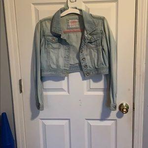 Justice light wash jean jacket